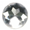Acrylic 18mm Round Facetted Crystal